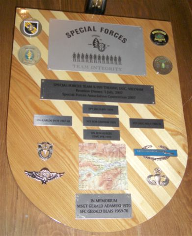 A-109 Team Reunion Plaque
