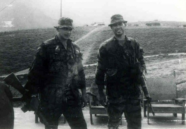 L to R - SGT Paul Hoffman (Wpns) and CPT William King (Det. CO)