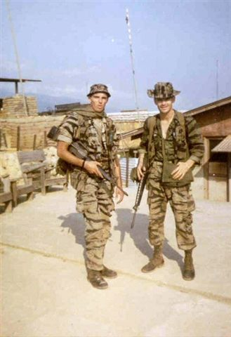 L to R - SP4 John Tomkins (Medic) and SSG Estel Spakes (Sr. Commo). Both KIA March 1968