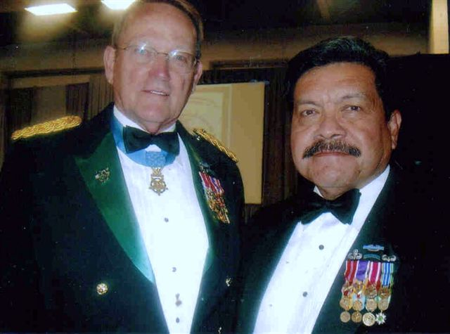 Charlie Inot with Roger Donlon (MOH)