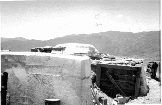Destroyed Bunker from NVA 122mm Rocket