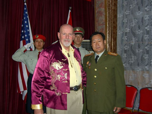 Jim Duffy & Host General Wan Su Jian in China