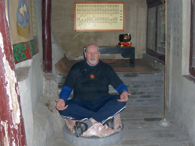 Jim Duffy at Site of Ancient Masters - Mian Shan