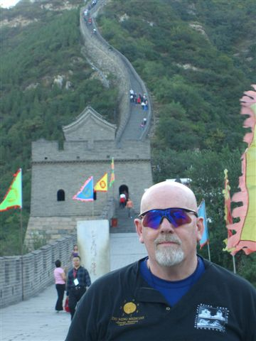 Jim Duffy at the Great Wall of China