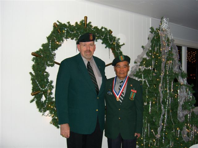 Jim Duffy with Colonel Tai Moc of Lost Commandos
