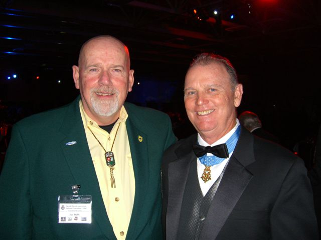 Jim Duffy with Former CO Ron Ray, MOH