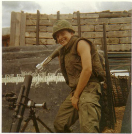 SGT Steven C. Scott on the 81mm mortar