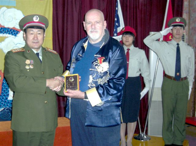 General Wan Presenting PLA 80th Year Commemorative Medal and PLA Wallet