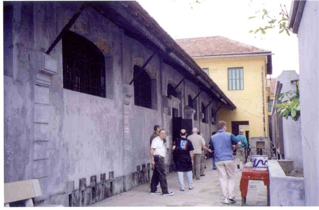 Ron Heugel at Hanoi Hilton Courtyard
