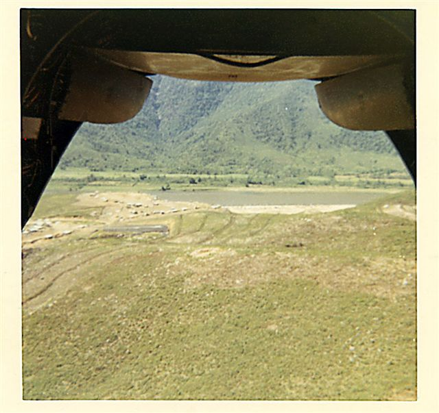 Thuong Duc SF Camp from the aft of a CH-46