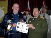 General Wan being presented an ODA-109 Honorary Member Certificate and 5th SFG VN Coin during 2007 trip to China