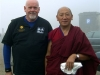 Jim Duffy with Tibetan Monk at Wu Tai Shan