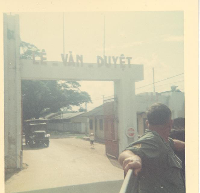 That\'s Jim exiting Camp Goodman in Saigon