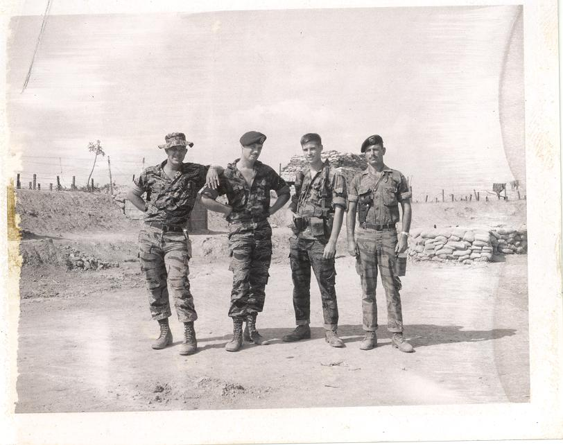 Weldon, McDonald, Gibson and Raymond Ross, members of Detachment A-433, Vietnam