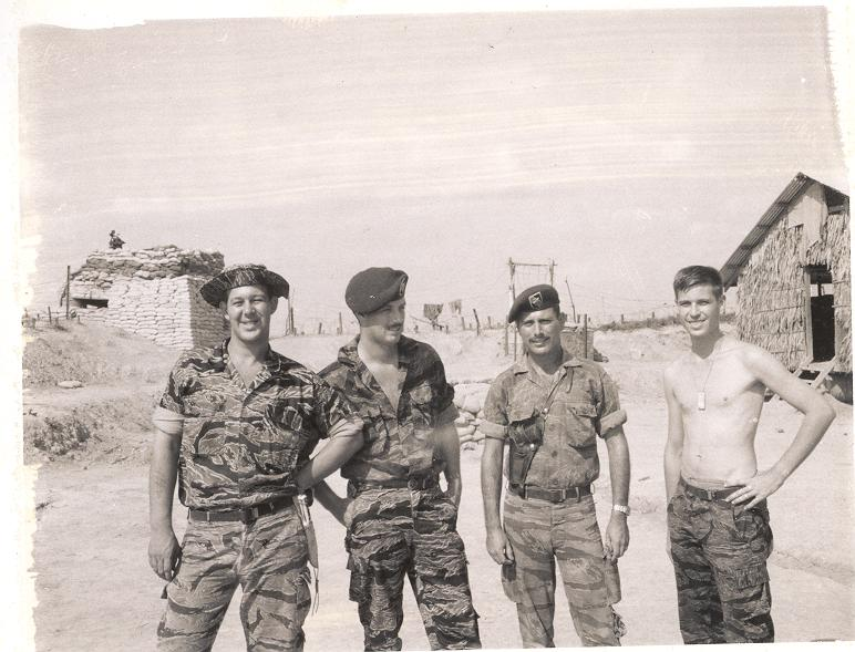 Jim Weldon, McDonald, Ross and Gibson camp A 433, to the left and in the background is the 106 Recoiless Bunker at Canal Junction corner of A-433
