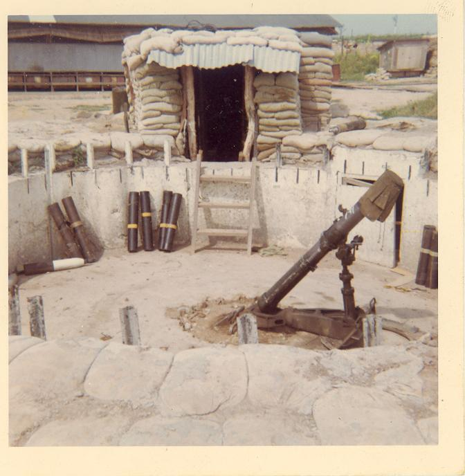 4.2 Mortar Bunker and the camps Teamhouse in the background, A 433