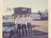 Three former RT Idaho One-Zeroes, from left: Robert J. Parks, Don Wolken, John S. Meyer at Ft. Devens, Mass June 1969, next to Meyer\'s 442 - W-30.
