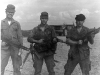 """This photo is on the Phu Bai range, with me, John \""""Bubba\"""" Shore and Charles Borg, fall of 1968. Note the sawed-off M-79 grenade launcher on Shore\'s right hip. And, not the XM-148 grenade launcher attached to the CAR-15 that Borg is holding. Some SF men liked it. I preferred the old sawed-off M-79."""