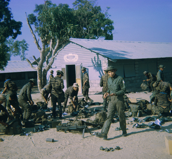 Kontum Mike Force HQ 1968. Loading for Combat Operation