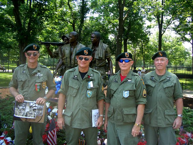 Gene and Jack Williams, Lonny Holmes, Bob Shaffer.  Memorial Day 2011, Washington DC