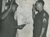 A-432 Team CPT R. Greenwood re- enlists SSG L Holmes at Company D, 1st SFGA SFOB in July 67