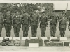 Demonstration A-Team for a VIP General. SSG L. Holmes, 4th from rt. D Company 1st SFGA, 1966 Camp Powai, Lopburi Thailand. SSG Pringle is to my left. SFC Knuttilllia is the tall guy in the center.  This A-Team is composed of all