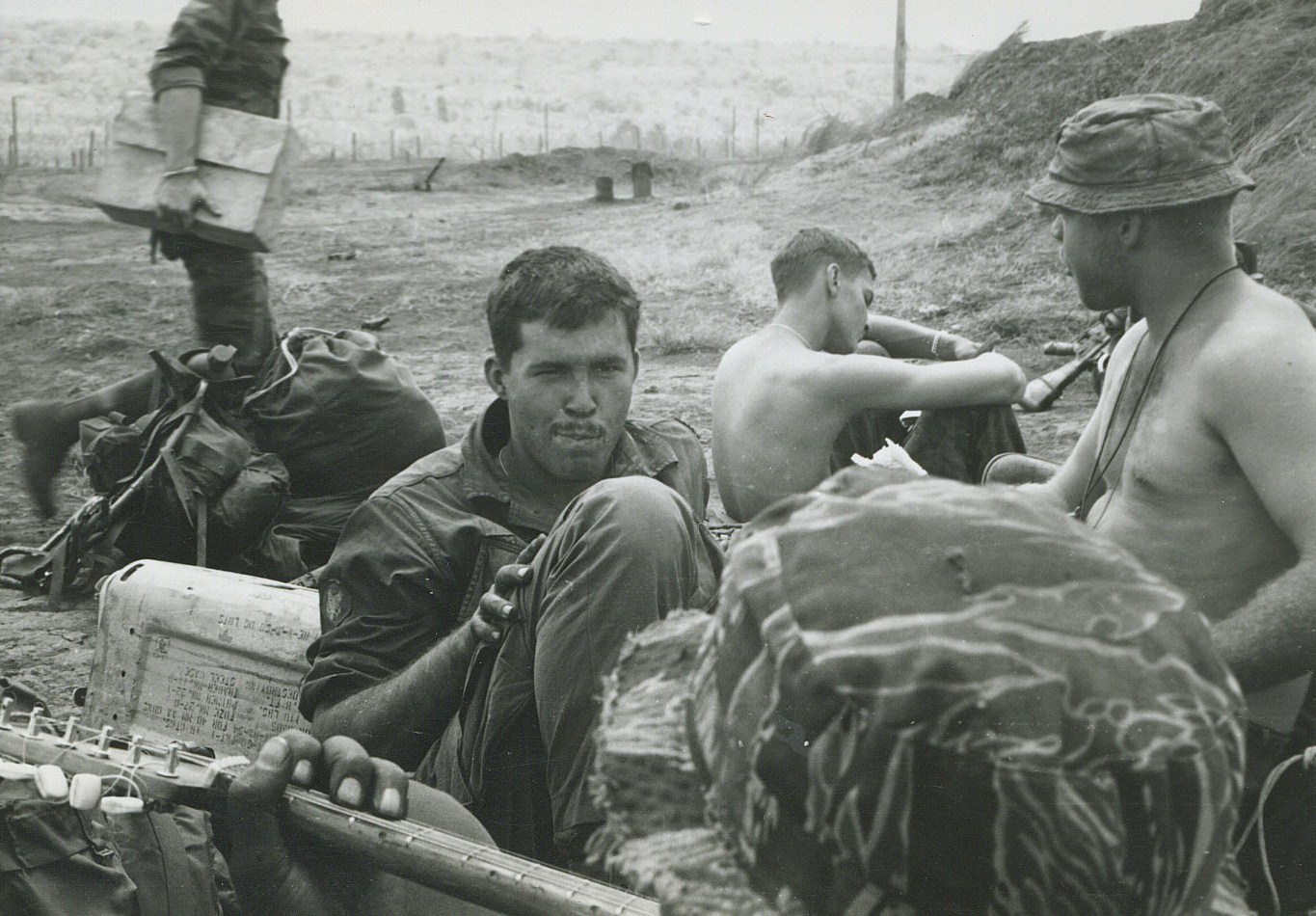 Mark Miller, Steve Northington at Plei Mei special forces A camp - RVN 1967
