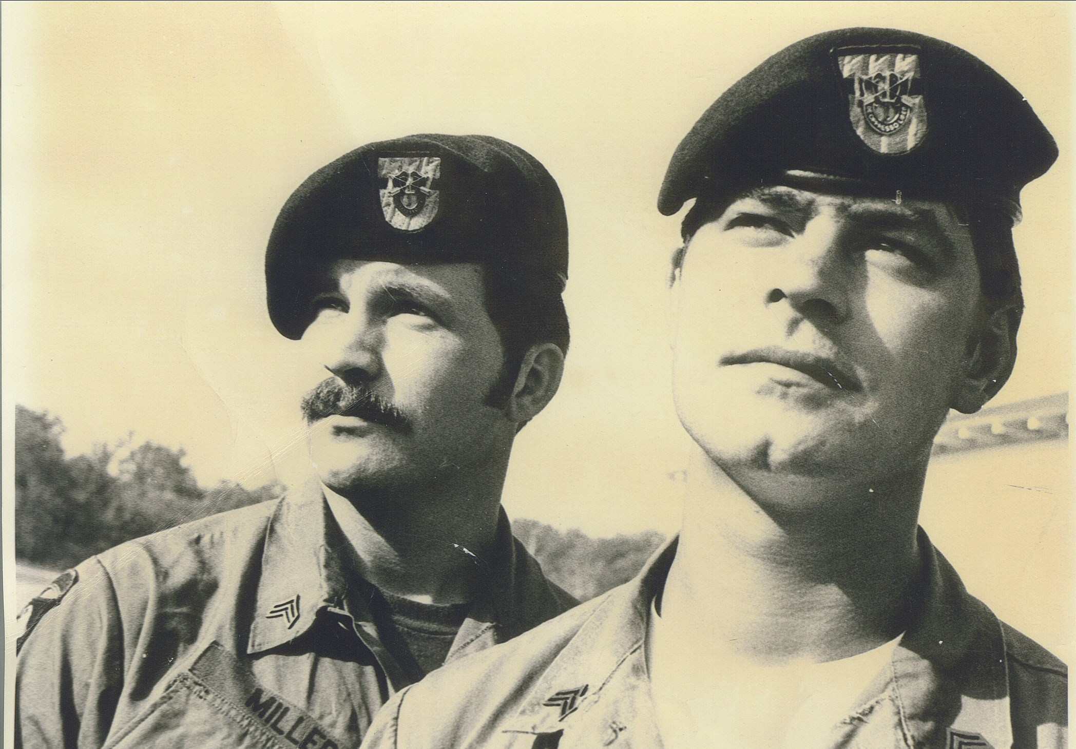 Mark Miller on left Fort Sherman canal zone for jungle warfare school Aug 1973