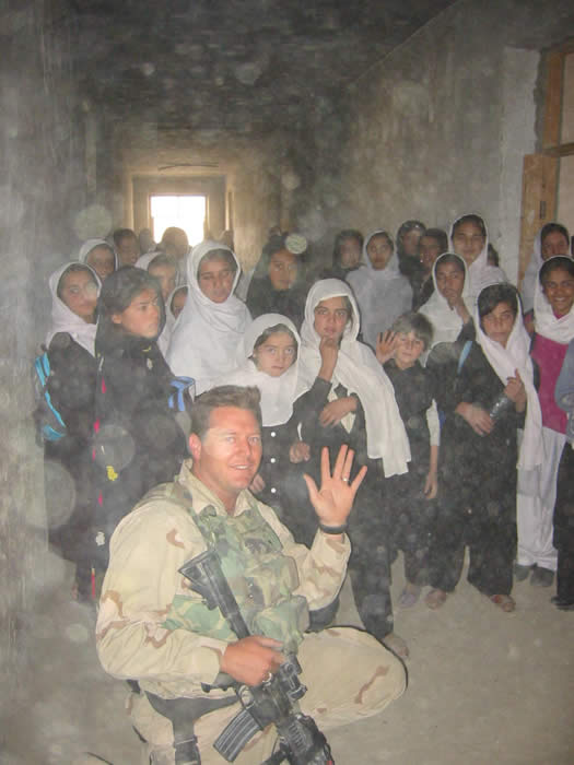 One of the first girls schools in Kabul Afghanistan. Female soldiers taught conversational English to Afghan women. We really weren\'t supposed to be around them. So it was a short visit.