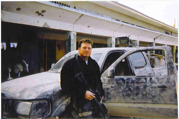 Getting ready to roll in civilian attire, we wore civies while picking up supplied etc. in Kabul, even though we were armed, we looked a little less like soldiers from a distance. Remember we were only moving in groups of 6 in the city.