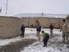 Snowball fight with some of the Afghan workers and their kids.
