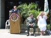 Post Commander Jerry Hoosier acts as Master of Ceremonies