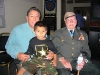 Ramon with youngest son and future Ranger, Anthony, visit with Col. Millet