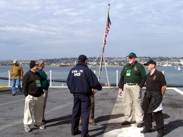 Sal Sanders, Ray Estrella, Navy guide, Jim Duffy, Richard Simonian