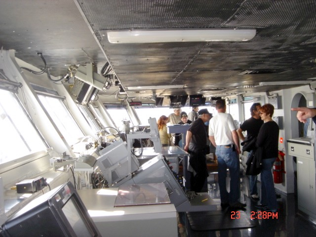 Captains Deck of the Ronald Regan Aircraft Carrier