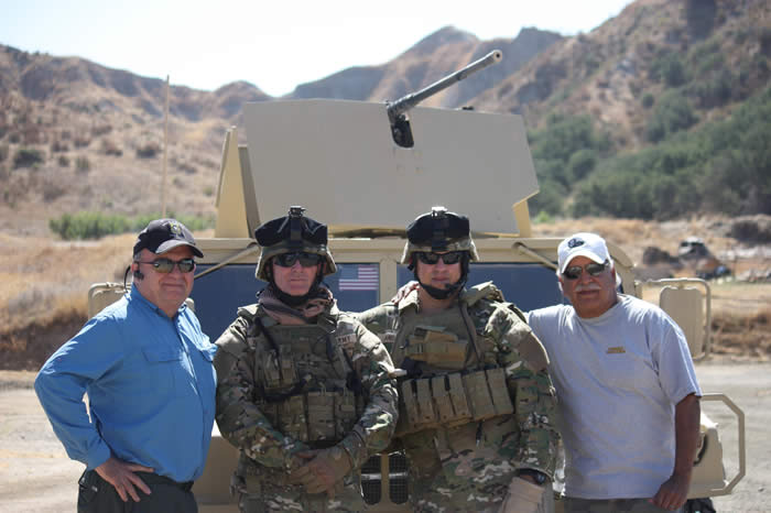 Brad Welker Lonny Holmes, Steve Cowan, Terry Cagnolatti, SF Chapter 78 Military Advisors for the Ripple Effect.