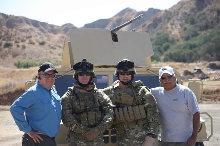 Brad Welker Lonny Holmes, Steve Cowan, Terry Cagnolatti, SF Chapter 78 Military Advisors for the Ripple Effect.