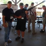 Lonny Holmes and Len Fein-with Barrett .50 Cal rifle at Camp McKall.