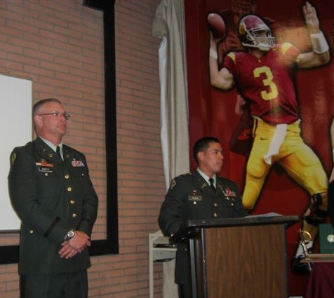 University of Southern California Hertiage Hall ROTC Awards Ceremony 2008. LTC Robert F. Huntly on left.
