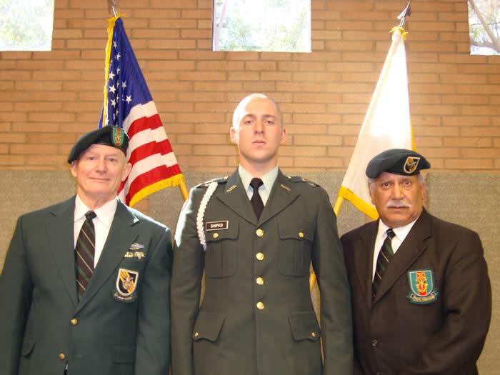 University of Southern California - Trojan Battalion - Professor of Military Science LTC Robert F. Huntly, Commanding - Lonny Holmes, Cadet David Shipko, Terry Cagnolatti.