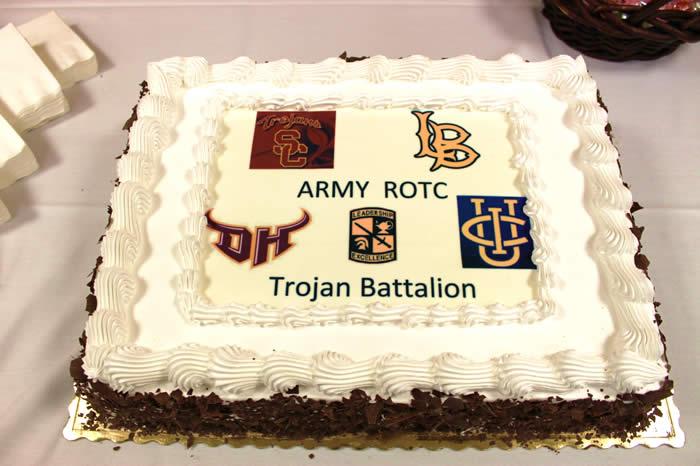 The Trojan Battalion Graduation Cake