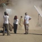 Ari Skye (Akhtar) walking away from the I.E.D. blast.