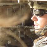 Patrick Quinlan (SFC Jack Newman, 18D) driving Humvee as I.E.D. explodes