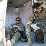 Loading the 'chopper for evacuation. Kirk Smith (SFC Smith) and Noah J. Smith (SFC Brian Miller)
