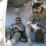Loading the 'chopper for evacuation. Kirk Smith (SFC Smith) and Noah J. Smith (SFC Brian Miller)
