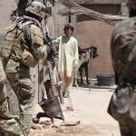 Ari Skye (Akhtar) leading members of the ODA and Afghan Police to his home.