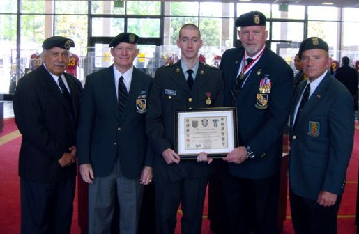 University of Southern California ROTC, Terry Cagnolatti, Lonny Holmes, Cadet Mark Thomas, Jim Duffy, Lin Fein.