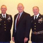 Colonel Mark Breslow, LTG William Boykin, CSM Bob Crebbs.