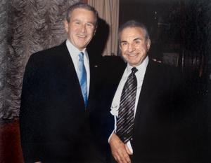 President George W. Bush and Richard Simonian