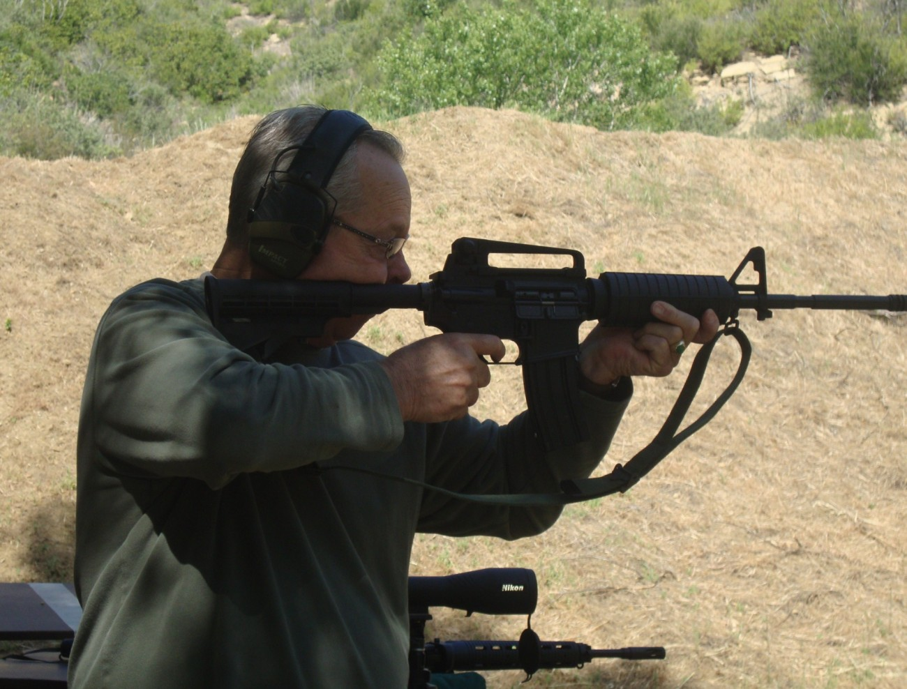 Tom Redfern with his M-16